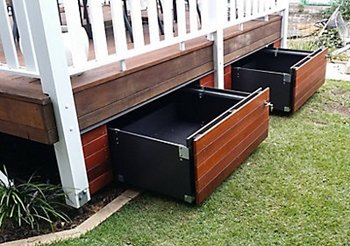 How to build a deck - Storage space