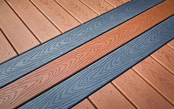 Composite decking for deck